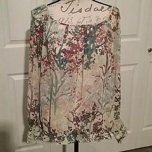 H&M floral blouse size 10